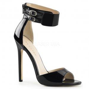 černé sandálky na jehlovém podpatku Sexy-19-b