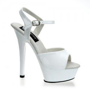 Kiss-209Wht krásné sexy boty na podpatku a platformě