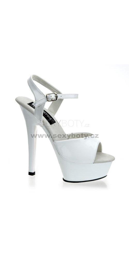 212eb12c352f Kiss-209Wht krásné sexy boty na podpatku a platformě - Velikost 41 ...