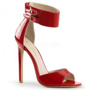 červené sandálky na jehlovém podpatku Sexy-19-r