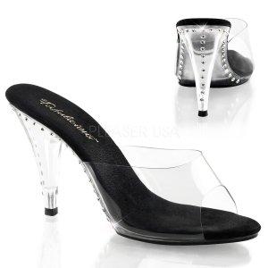 černé dámské pantoflíčky Caress-401ls-cbc