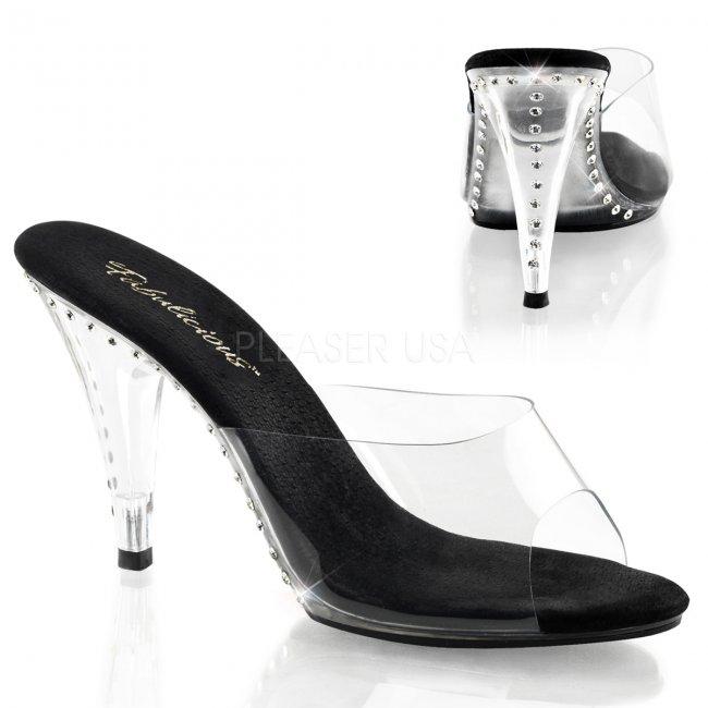 černé dámské pantoflíčky Caress-401ls-cbc - Velikost 35