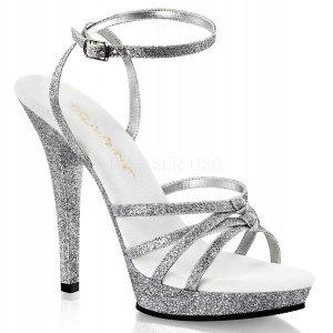 dámské stříbrné páskové boty Lip-128-sg