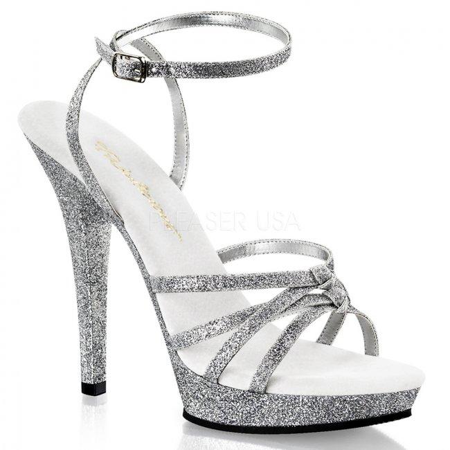dámské stříbrné páskové boty Lip-128-sg - Velikost 36
