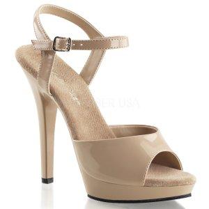 béžové dámské páskové boty Lip-109-nd