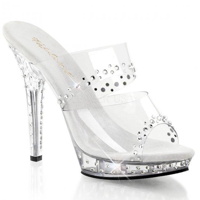 průhledné dámské pantofle Lip-102rs-c - Velikost 37