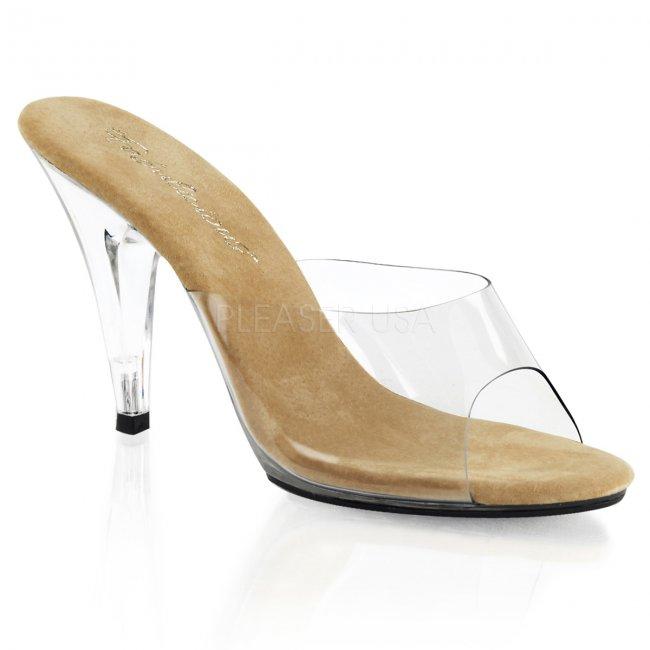 hnědé dámské pantoflíčky Caress-401-ctc - Velikost 36