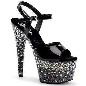 vysoké dámské sandále s hvězdičkami Starsplash-709-b