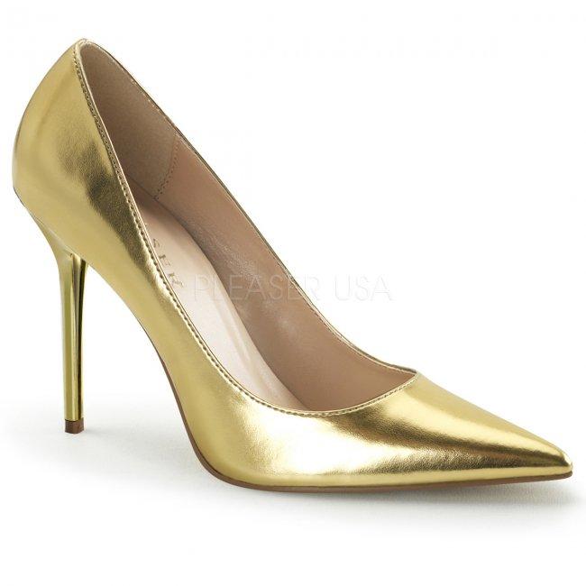 zlaté dámské lodičky Classique-20-gmpu - Velikost 35