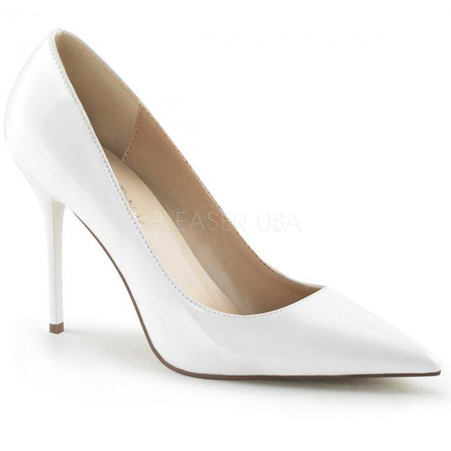 bílé dámské lodičky Classique-20-w - Velikost 43