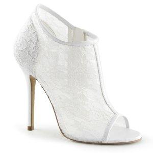 bílé dámské krajkové sandálky Amuse-56-ivlc 6fa77b0851