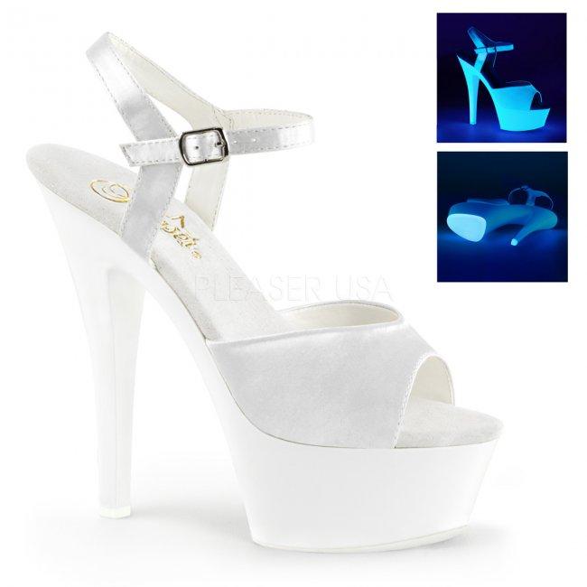 bílé UV dámské sandálky Kiss-209uv-wsa - Velikost 36