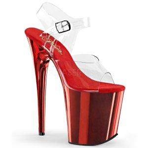 červené boty na extra vysokém podpatku Flamingo-808-crch