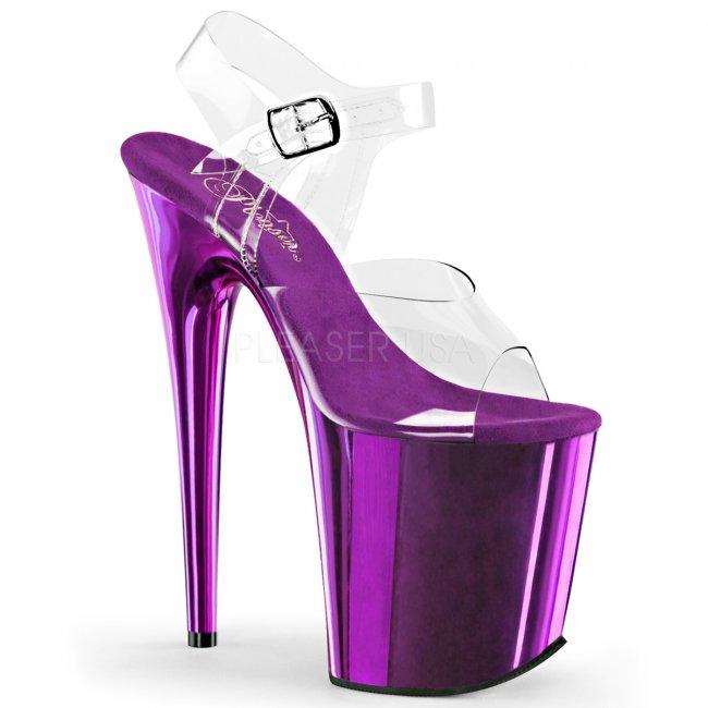 fialové boty na extra vysokém podpatku Flamingo-808-cppch - Velikost 42