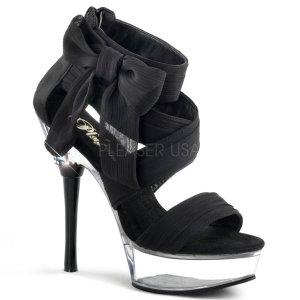černé dámské šifonové boty Allure-664-bcfc
