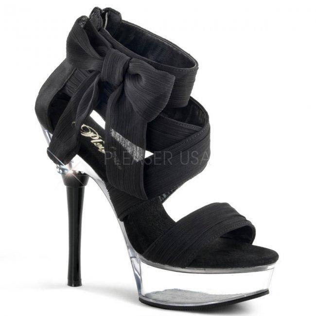 černé dámské šifonové boty Allure-664-bcfc - Velikost 35