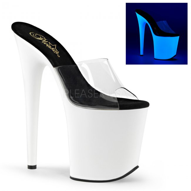 extra vysoké pantofle s UV efektem Flamingo-801uv-cnw - Velikost 36