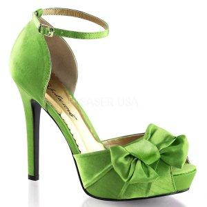 zelené saténové sandálky Lumina-36-apgnsa