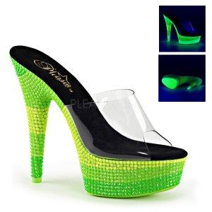 pantofle s UV efektem na platformě Delight-601uvs-cnmcgn