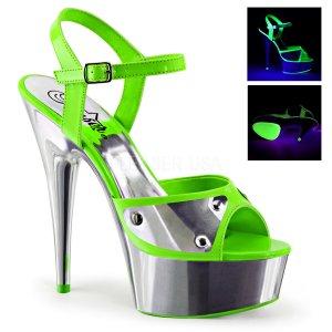 dámské zelené sandále s UV efektem Delight-609nc-ngn