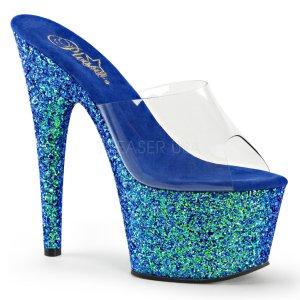 modré pantofle s holografickým efektem Adore-701lg-cblg