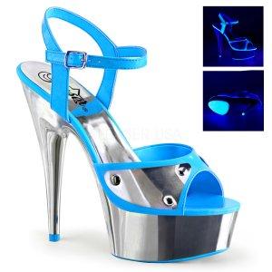 modré sandále s UV efektem Delight-609nc-nbl