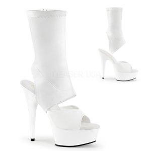 bílé dámské kotníkové kozačky Delight-1022-wpu