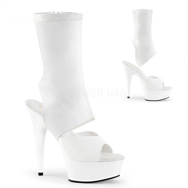 bílé dámské kotníkové kozačky Delight-1022-wpu - Velikost 37