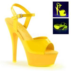 žluté UV dámské sandálky Kiss-209uv-nyl