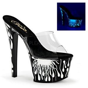 vysoké dámské UV pantofle na platformě Sky-301-5-cbnw