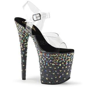 extra vysoké sandálky s hvězdičkami Starsplash-808-cb
