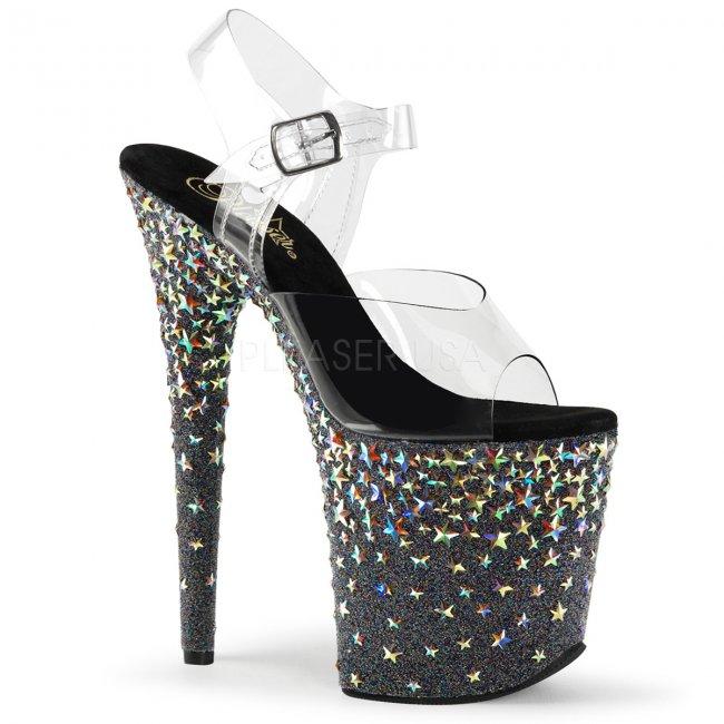 extra vysoké sandálky s hvězdičkami Starsplash-808-cb - Velikost 37