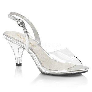 dámské průhledné sandálky Belle-350-c