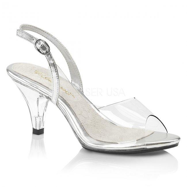 dámské průhledné sandálky Belle-350-c - Velikost 40