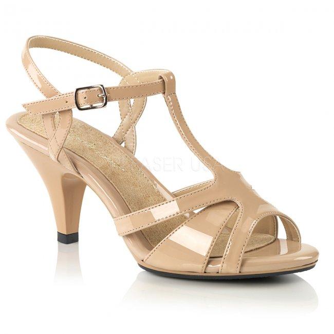 dámské béžové páskové sandálky Belle-322-nd - Velikost 36