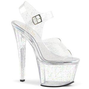 vysoké dámské sandály s glitry Sky-308mmg-c