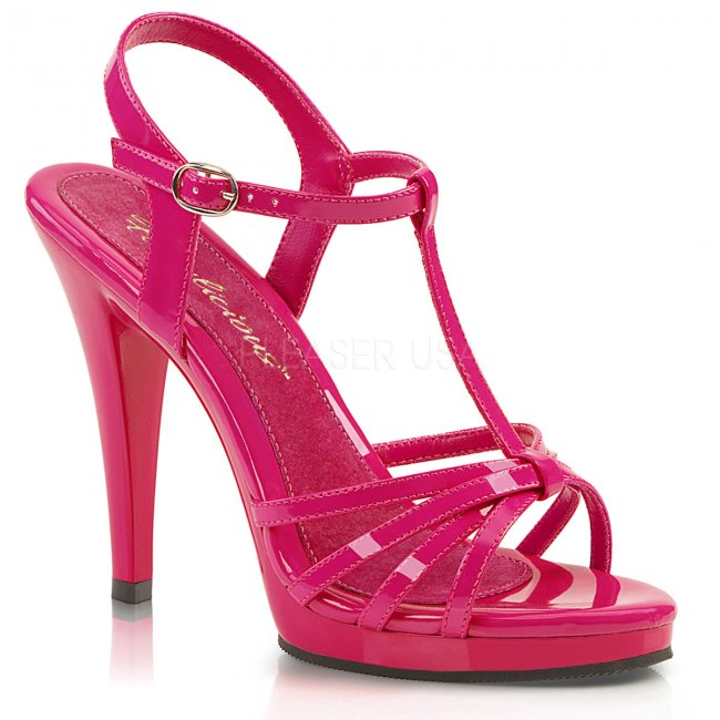 dámské růžové páskové sandálky Flair-420-hp - Velikost 39