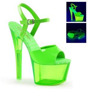 zelené vysoké dámské UV sandály na platformě Sky-309uvt-ngn