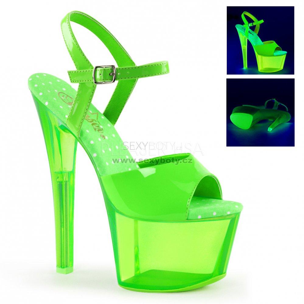 ead47a24f65 zelené vysoké dámské UV sandály na platformě Sky-309uvt-ngn - Velikost 35