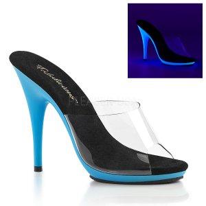 modré dámské boty s UV efektem Poise-501uv-cnbl