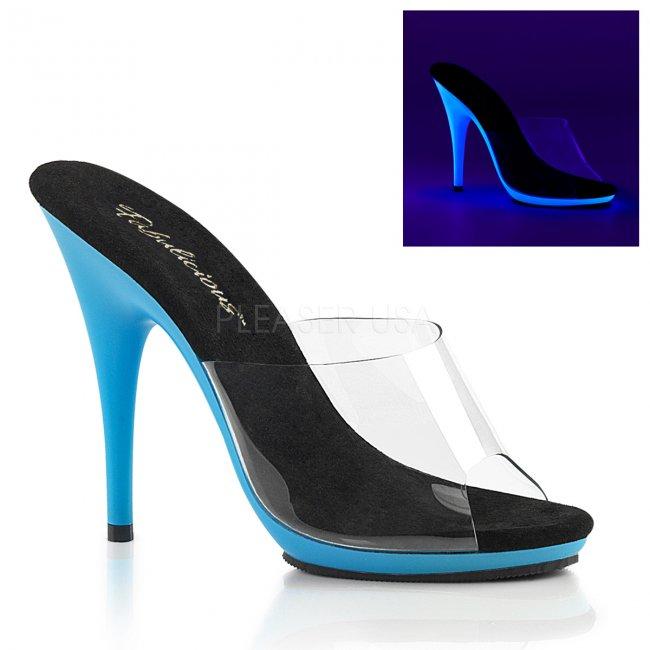 modré dámské boty s UV efektem Poise-501uv-cnbl - Velikost 37