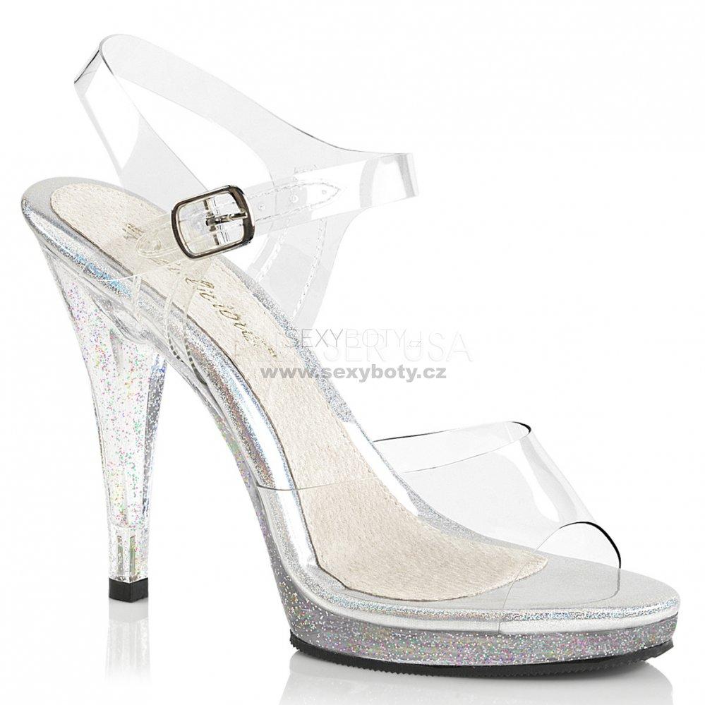 stříbrné dámské páskové sandálky Flair-408mg-c - Velikost 35 ... 5550c06da7