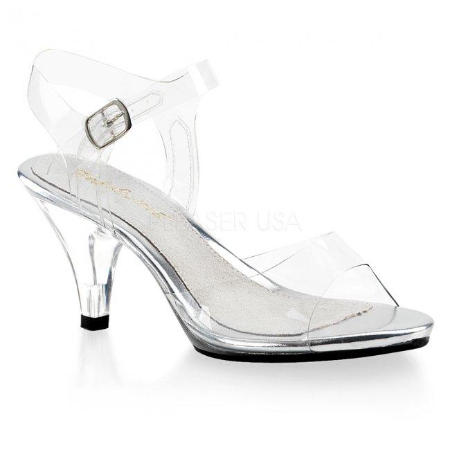 dámské páskové průhledné sandálky Belle-308-c - Velikost 36