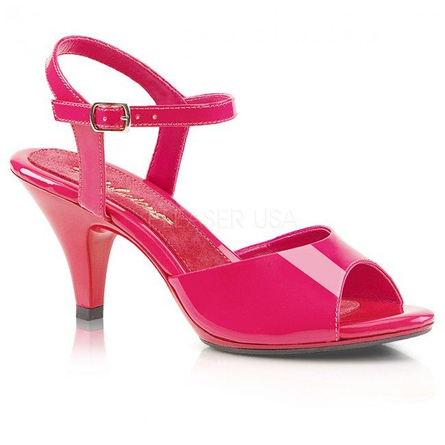růžové dámské sandálky Belle-309-hp - Velikost 46