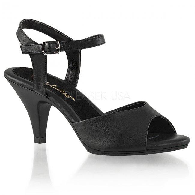 dámské černé sandálky Belle-309-bpu - Velikost 41
