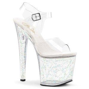 průhledné extra vysoké dámské sandály s glitry Taboo-708mg-c
