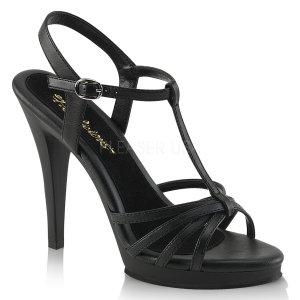 černé dámské páskové sandálky Flair-420-bpu