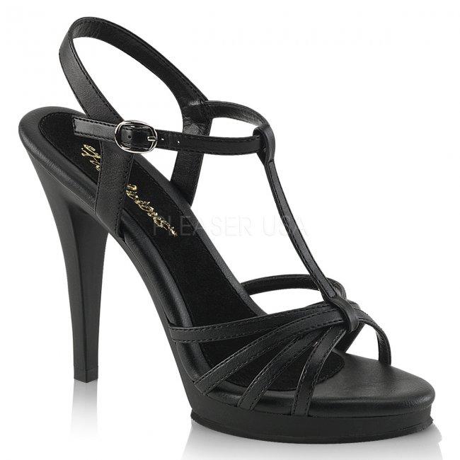 černé dámské páskové sandálky Flair-420-bpu - Velikost 38