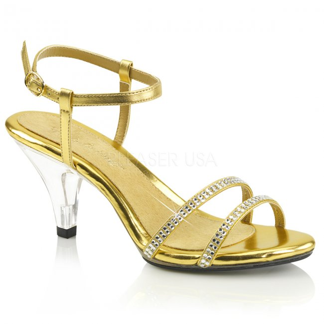 zlaté dámské páskové sandálky Belle-316-gmpuc - Velikost 38