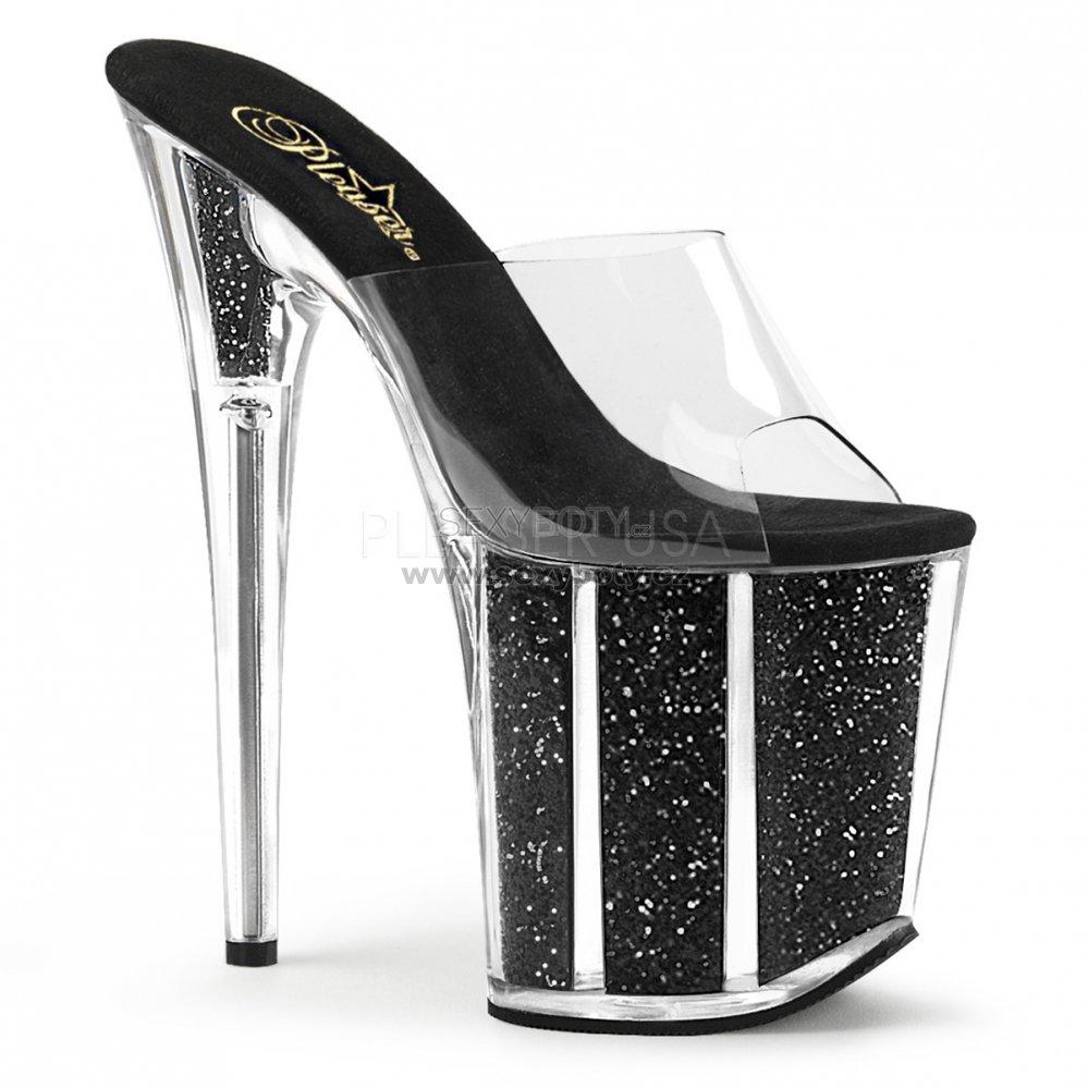 extra vysoké nazouvací pantofle s glitry Flamingo-801g-cbg - Velikost 35 7b6d096258